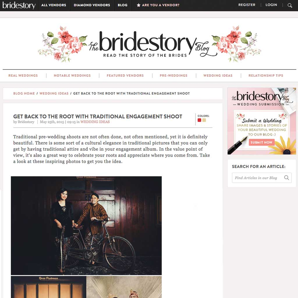 On the Bridestory Blog About Traditional Prewedding